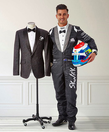 Nathan-Antunes-designer-racing-tux-by-Brent-Wilson