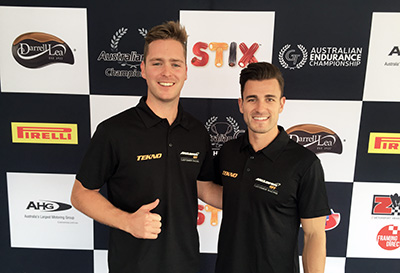 Elliot-Barbour-and-Nathan-Antunes-podium-and-5th-overall-Australian-GT-Perth